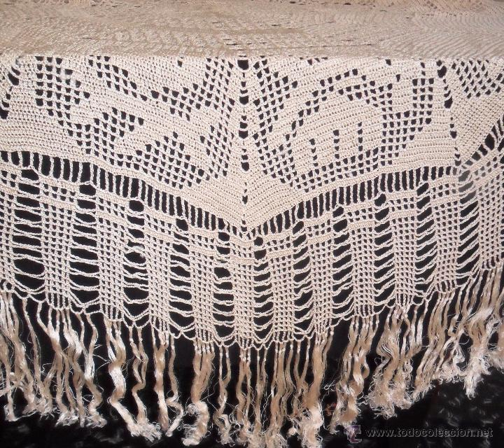 Antigüedades: Mantel de seda - años 20 - Foto 6 - 52623063