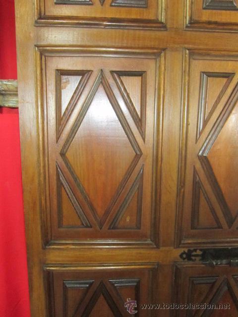 Puerta De Madera Interior Con Cuarterones Con D Comprar - Puertas-de-madera-interiores