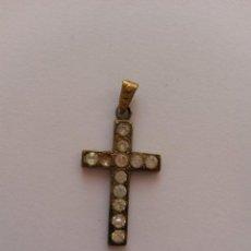 Antigüedades: CRUZ ,CRUCIFIJO DE 3 X 1,7 CMS CON PEDRERIA. Lote 52639112