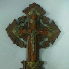 Antigüedades: BENDITERA CRISTO EN LA CRUZ. Lote 52653534