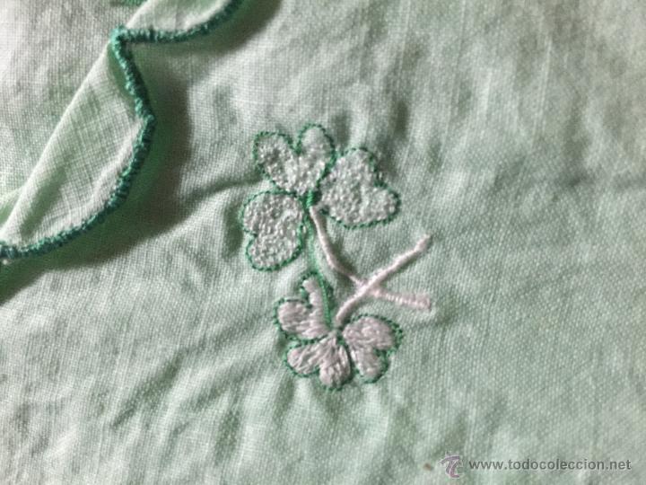 Antigüedades: Antiguo camisón de algodón color verde agua - Foto 2 - 52665602