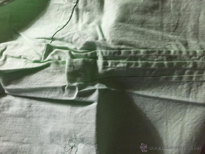 Antigüedades: Antiguo camisón de algodón color verde agua - Foto 3 - 52665602