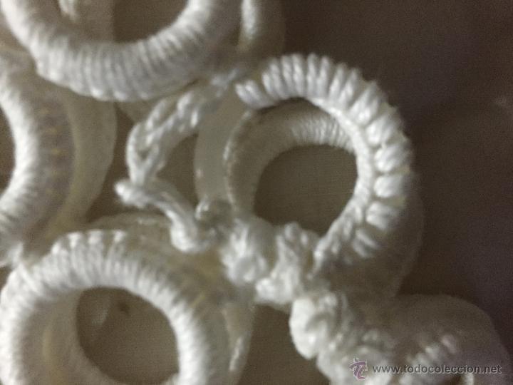 Antigüedades: Camino de mesa de ganchillo 100 x 20 cms. - Foto 5 - 52666511