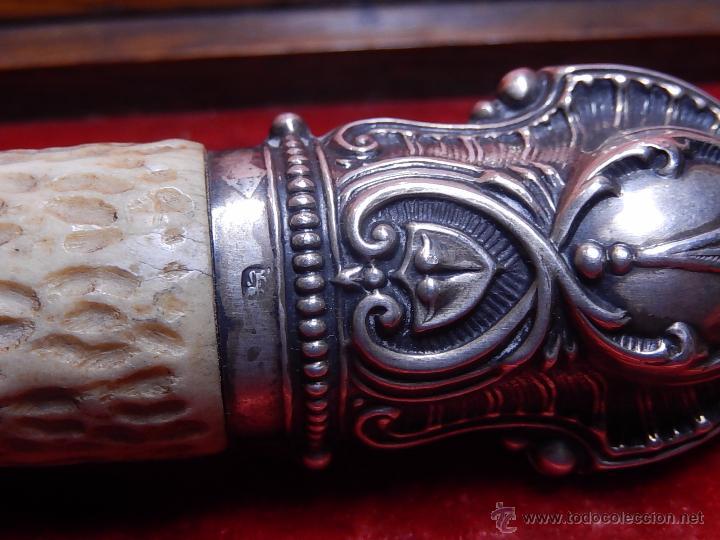 Antigüedades: Extraordinaria caja antigua de cubiertos trinchantes. Posiblemente de fabricación inglesa. - Foto 14 - 52669435
