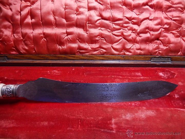 Antigüedades: Extraordinaria caja antigua de cubiertos trinchantes. Posiblemente de fabricación inglesa. - Foto 20 - 52669435