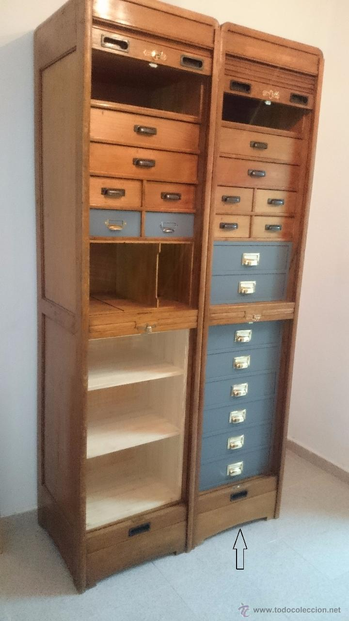 Mueble archivador de persiana 2 comprar armarios antiguos en todocoleccion 52697807 - Persianas para muebles ...