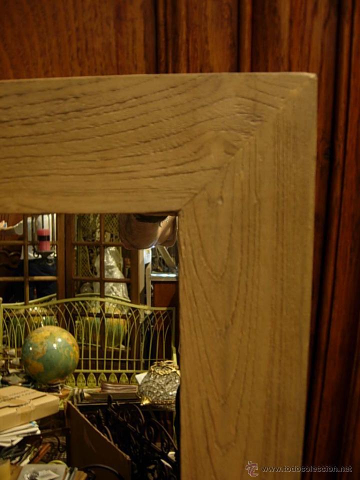 antigedades espejo de madera con repisa para un bao por ejemplo foto