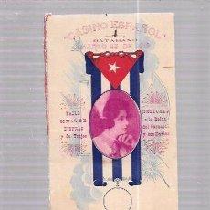 Antigüedades: CARNET DE BAILE SOCIAL DE DISFRAZ Y DE TRAJES. CASINO ESPAÑOL BATABANO. 1919. CARNAVAL.. Lote 52702233