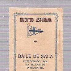 Antigüedades: CARNET DE BAILE DE SALSA. JUVENTUD ASTURIANA. HABANA, 1922.. Lote 52703088