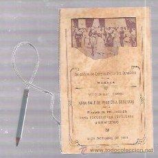 Antigüedades: CARNET DE BAILE. ASOCIACION DE DEPENDIENTES DEL COMERCIO DE LA HABANA. 1921.. Lote 52703193