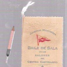 Antigüedades: CARNET DE BAILE DE SALSA. SALONES CASTELLANO. JUVENTUD MONTAÑESA. HABANA, 1923.. Lote 52703311