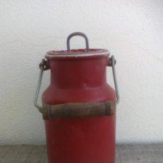 Antigüedades: ANTIGUA LECHERA O CANTARA DE ALUMINIO, CON ASA, PARA 1 LITRO . Lote 52703726