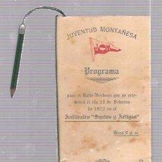 Antigüedades: CARNET DE BAILE JUVENTUD MONTAÑESA. ANFITEATRO SANTO Y ARTIGAS. 1922. Lote 52704162