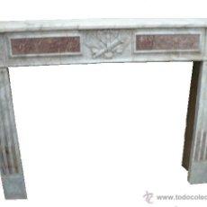 Antigüedades: CHIMENEA DE MARMOL LUIS XVI SIGLO XVIII. Lote 52705067