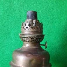 Antigüedades: QUINQUEL DE LATON DRAPEAU. Lote 52706863
