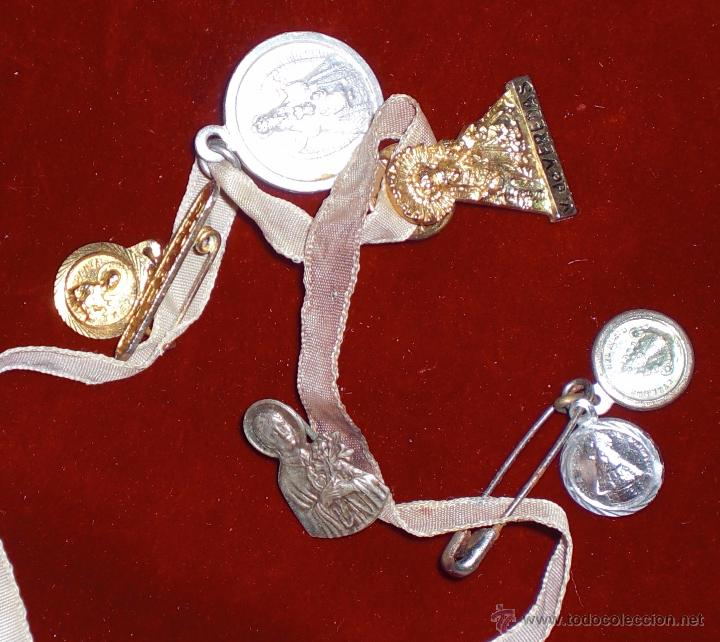 LOTE 6 MEDALLAS RELIGIOSAS (Antigüedades - Religiosas - Medallas Antiguas)