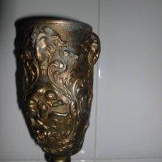 Antigüedades: ANTIGUA COPA CON MOTIVOS DE ÁNGELES Y DIOS BACO EN RELIEVE. Lote 52729792