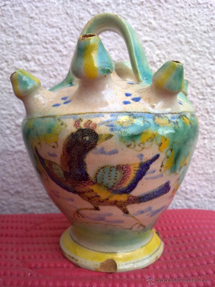 BOTIJO DE ENGAÑO EN CERÁMICA DE PUENTE DEL ARZOBISPO O TRIANA. (Antigüedades - Porcelanas y Cerámicas - Puente del Arzobispo )