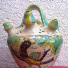 Antigüedades: BOTIJO DE ENGAÑO EN CERÁMICA DE PUENTE DEL ARZOBISPO O TRIANA.. Lote 52738799