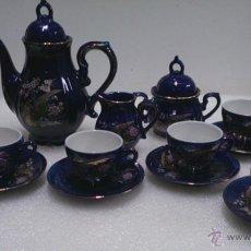 Antigüedades: JUEGO CAFÈ JAPONÈS EIHO AZUL ,PARA 5 PERSONAS. Lote 52749074