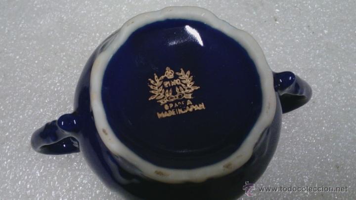 Antigüedades: Juego cafè japonès eiho azul ,para 5 personas - Foto 4 - 52749074