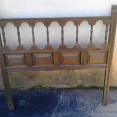 Antigüedades: CABECERO CAMA MADERA DE 90. Lote 52751663