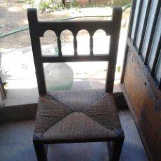 Antigüedades: SILLA ANEA Y MADERA CLASICA. Lote 52751990