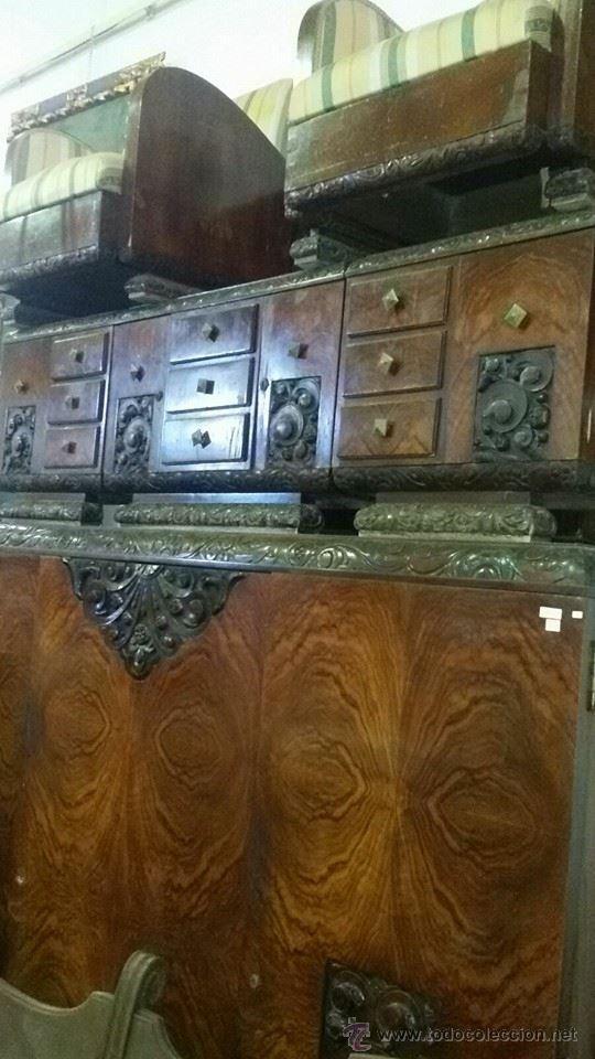 DORMITORIO COMPLETO (Antigüedades - Muebles Antiguos - Camas Antiguas)