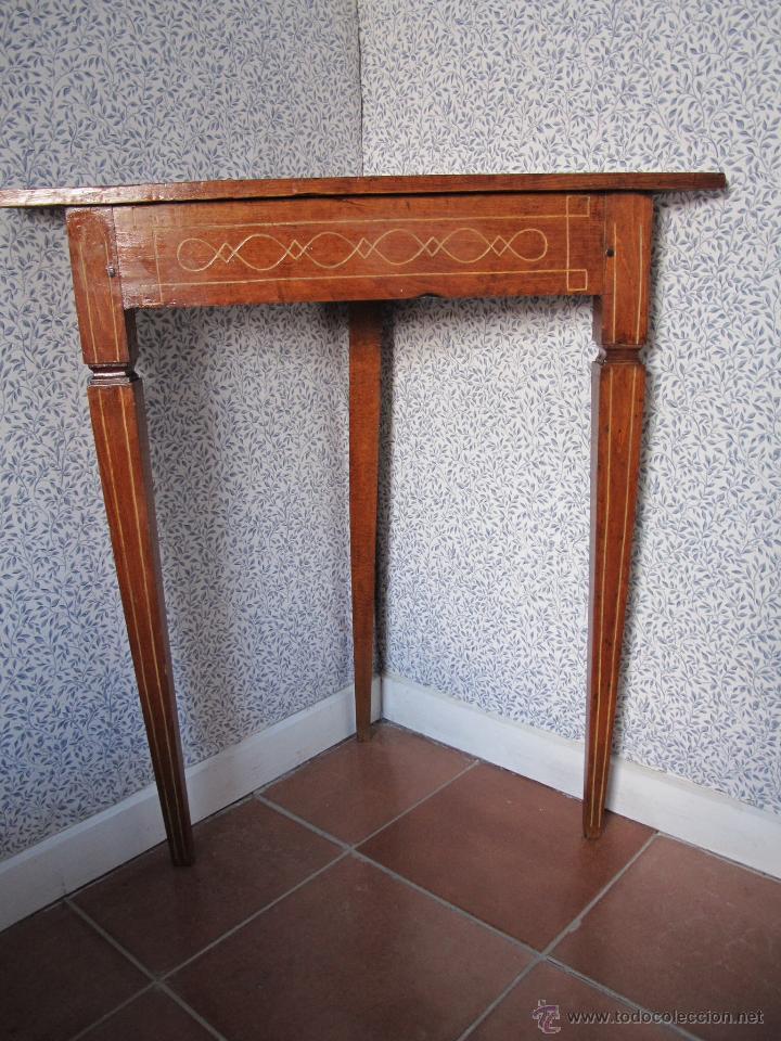 Antigüedades: Pareja de bonitos veladores de época Carlos IV - Foto 4 - 52763184