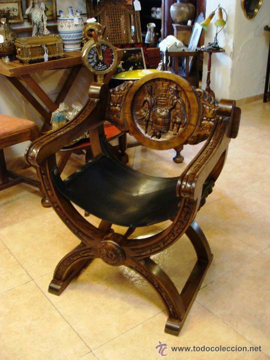 Sill n castellano jamuga tallada en madera con comprar sillones antiguos en todocoleccion - Sillones de segunda mano en madrid ...