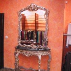 Antigüedades: RECIBIDOR DE MADERA TALLADA. Lote 52769721