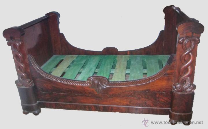 Excelente cama de caoba estilo imperio siglo comprar for Muebles estilo imperio