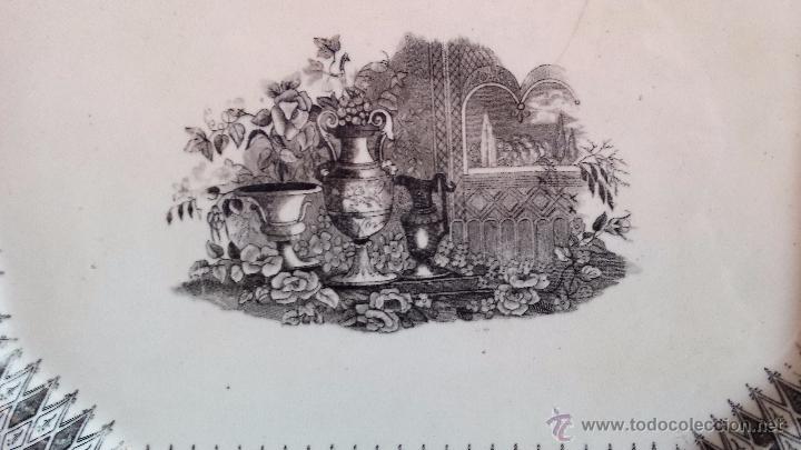 Antigüedades: antigua y gran fuente de cartagena, jardines europeos, sello incisio y tinta - Foto 2 - 52784402