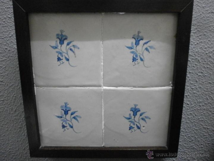 Plaf n de 4 azulejos antiguos catalanes en vendido for Azulejos de cocina de loza