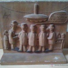 Antigüedades: VIÑETA COMIC EN TERRACOTA- FIRMADA FORGES. Lote 52801361