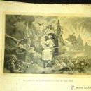Antigüedades: ANTIGUA GRAN LAMINA ENCICLICA A LOS OBREROS PAPA LEON XIII PROPAGANDA GRAFICA RELIGIOSA FINALES XIX. Lote 52802299