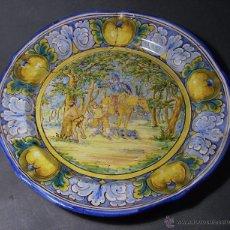 Antigüedades: GRAN PLATO CERÁMICA DE TALAVERA XIX ( NIVEIRO ) . Lote 52827010