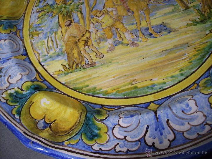 Antigüedades: GRAN PLATO CERÁMICA DE TALAVERA XIX ( NIVEIRO ) - Foto 10 - 52827010