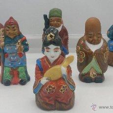 Antigüedades: 6 FIGURITAS EN PORCELANA JAPONESA DE LOS SEIS DIOSES DE LA BUENA FORTUNA ( SHICHIFUKUJIN ),AÑOS 40.. Lote 52834598