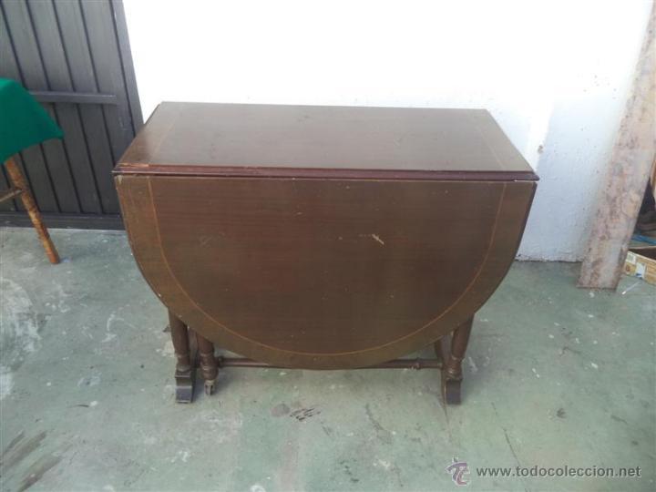 MESA DE ALAS (Antigüedades - Muebles Antiguos - Mesas Antiguas)