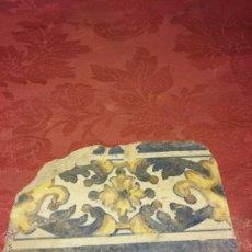 Antigüedades: CENEFA AZULEJO SIGLO XVII TRIANA . POLICROMADO.. Lote 52849279