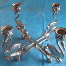 Antigüedades: CANDELABRO DE METAL 4 VELAS. Lote 52865585