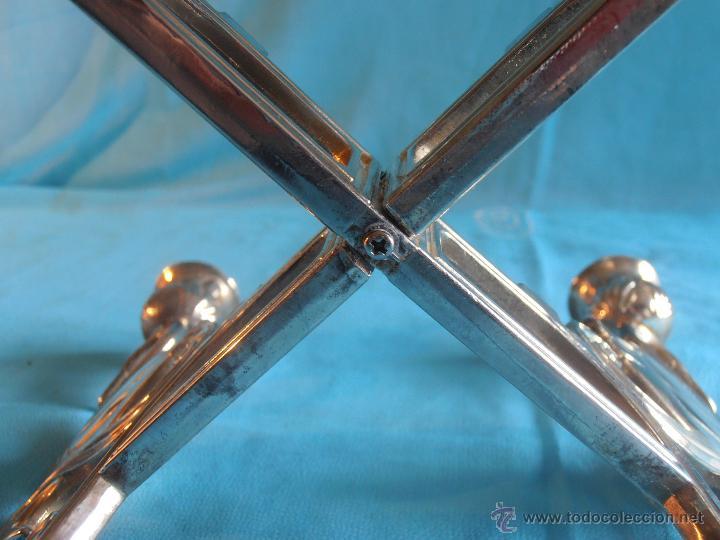 Antigüedades: CANDELABRO DE METAL 4 VELAS - Foto 5 - 52865585