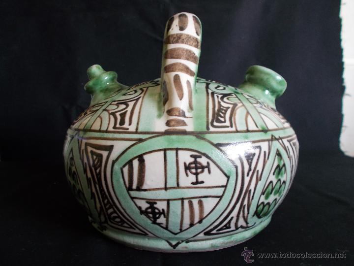 BOTIJO EN CERÁMICA DE TERUEL, FIRMADA POR DOMINGO PUNTER. EL TOZAL (HUESCA). (Antigüedades - Porcelanas y Cerámicas - Teruel)