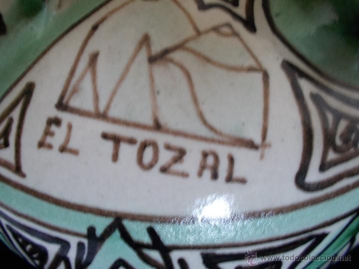 Antigüedades: BOTIJO EN CERÁMICA DE TERUEL, FIRMADA POR DOMINGO PUNTER. EL TOZAL (HUESCA). - Foto 6 - 52866595