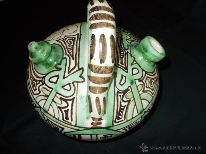 Antigüedades: BOTIJO EN CERÁMICA DE TERUEL, FIRMADA POR DOMINGO PUNTER. EL TOZAL (HUESCA). - Foto 8 - 52866595