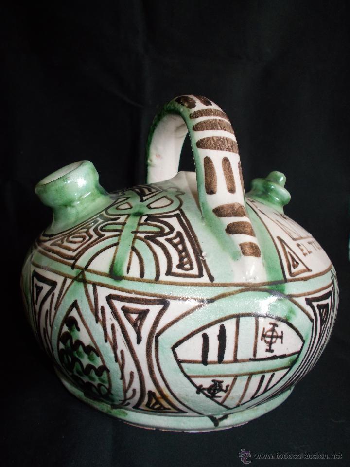 Antigüedades: BOTIJO EN CERÁMICA DE TERUEL, FIRMADA POR DOMINGO PUNTER. EL TOZAL (HUESCA). - Foto 9 - 52866595