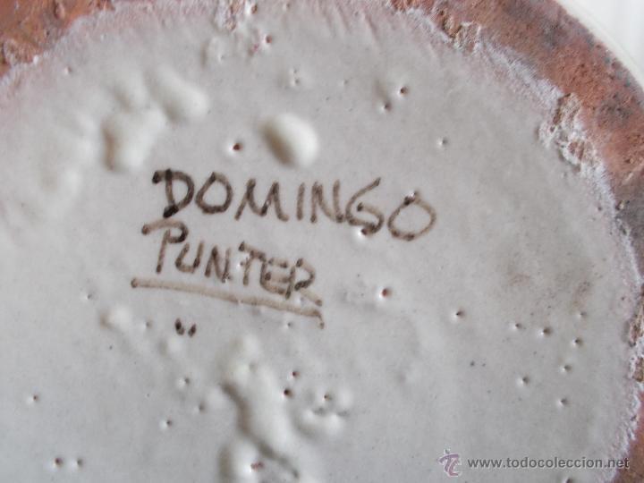 Antigüedades: BOTIJO EN CERÁMICA DE TERUEL, FIRMADA POR DOMINGO PUNTER. EL TOZAL (HUESCA). - Foto 11 - 52866595