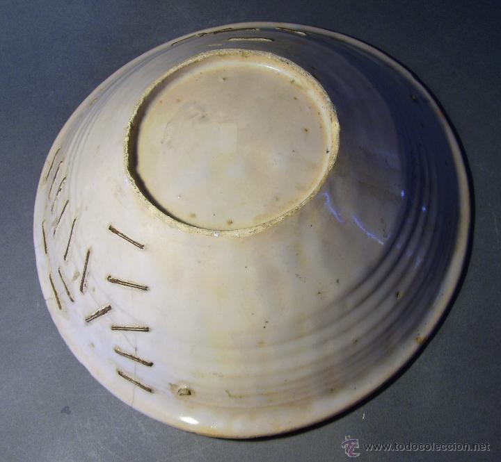 Antigüedades: GRAN PLATO CERÁMICA DE TALAVERA XIX - Foto 8 - 52870026