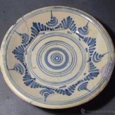 Antigüedades: PLATO CERÁMICA PUENTE DEL ARZOBISPO ( TALAVERA ) XIX . Lote 52870472